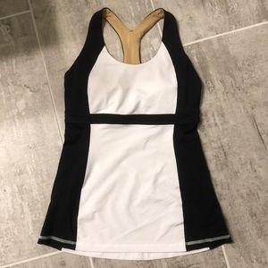 Lululemon Black & White Tank Size 6